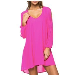 Mittoshop Split Sleeve Swing Dress
